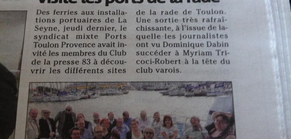 Le club de la presse 83 visite les ports de la rade