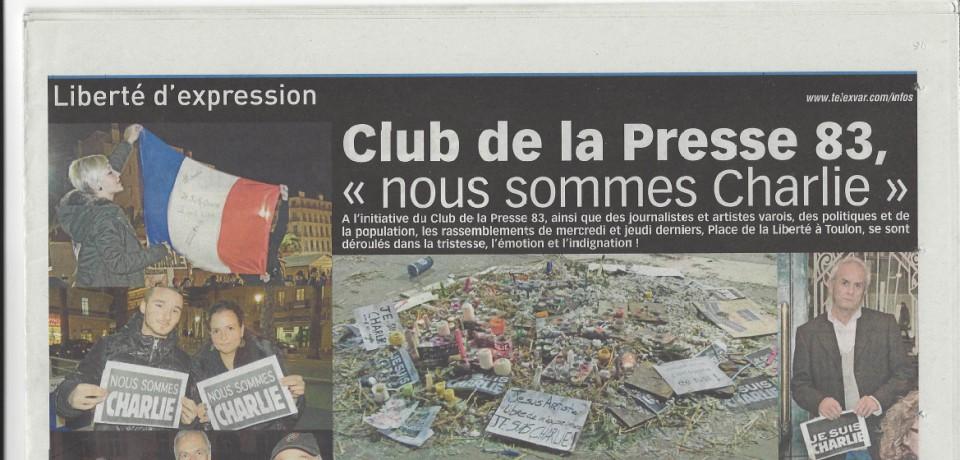 Club de la Presse 83 : «Nous sommes Charlie»