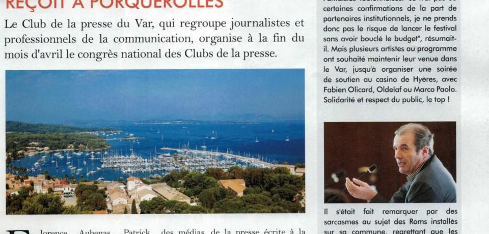 Médias : le Club de la Presse reçoit à Porquerolles