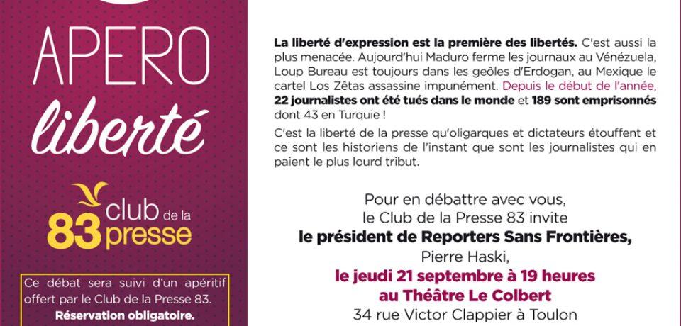 REPORTERS SANS FRONTIÈRES A TOULON